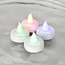 LED Battery Operated Water-Activated Floating Tea Light Set