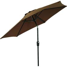 7.5' Brown Aluminum Patio Umbrella