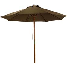 7.5' Brown Market Patio Umbrella