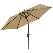 7.5' Tan Canopy Tilt Patio Umbrella
