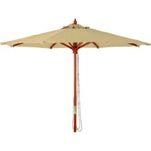 7.5' Tan Canopy Market Patio Umbrella