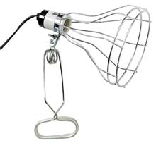 "8.5"" Heavy Duty 150 Watt Clamp Lamp w/ Wire Guard"