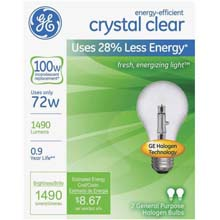 72W Clear Medium Base Halogen Bulb