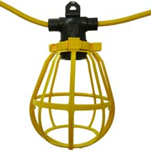 Yellow 7 Cage Industrial Light Strand TAB-3507Y