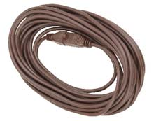 40' Medium-Duty Extension Power Cord - 16/3 - Brown