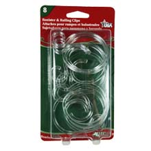 Banister/Railing Rope & String Light Clips - 12 Pack