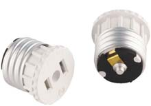 Leviton Medium Base Socket 2-Prong Oulet Adapter