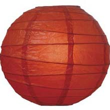"Red 10"" Round Rice Paper Lanterns L2RE"