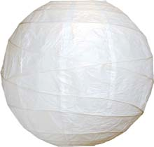 "White 10"" Round Rice Paper Lanterns L2"