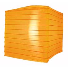 "Orange 10"" Square Nylon Lantern"