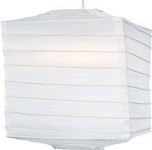 "White 10"" Square Nylon Lantern SH103"