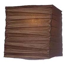 "Chocolate 10"" Square Rice Paper Lantern LSQCL"
