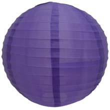 "Dark Purple 14"" Round Nylon Lantern SH17"