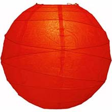 "Red 14"" Round Rice Paper Lantern L14RE"