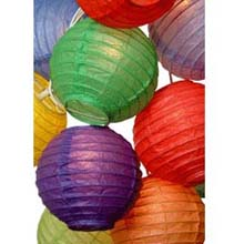 Multi Color Flatpack Paper String Light Lanterns L51F