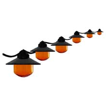 Six HD Orange Globe String Light Set