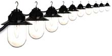 Clear Savannah Style Globe String Lights - Black Housing