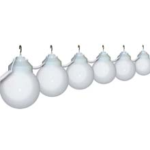 "6"" White Globe String Light Set"
