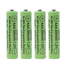 Solar Batteries AAA - 4 Pack