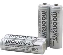 Moonrays Solar Rechargeable AA Batteries