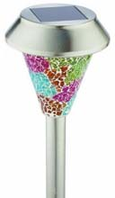 Large Mosaic Solar Stake Light