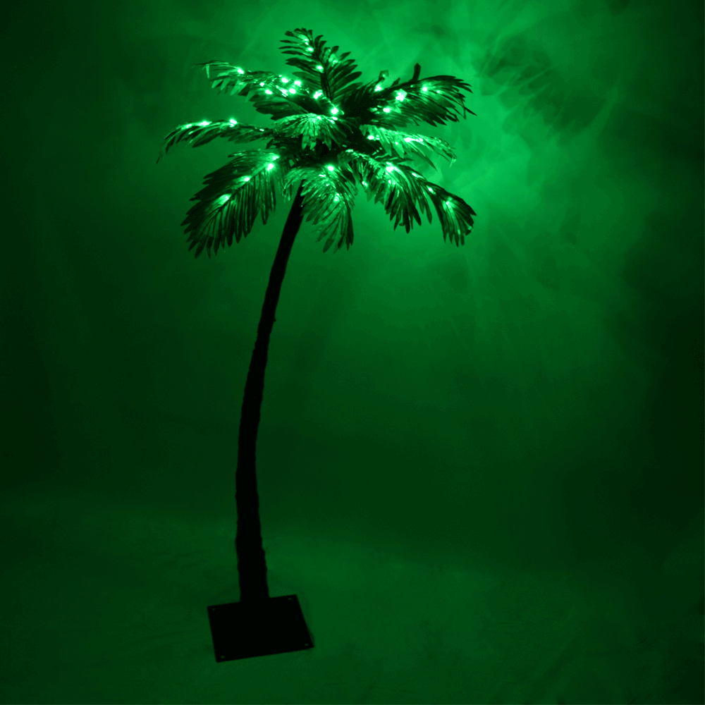 tropical lighted palm tree