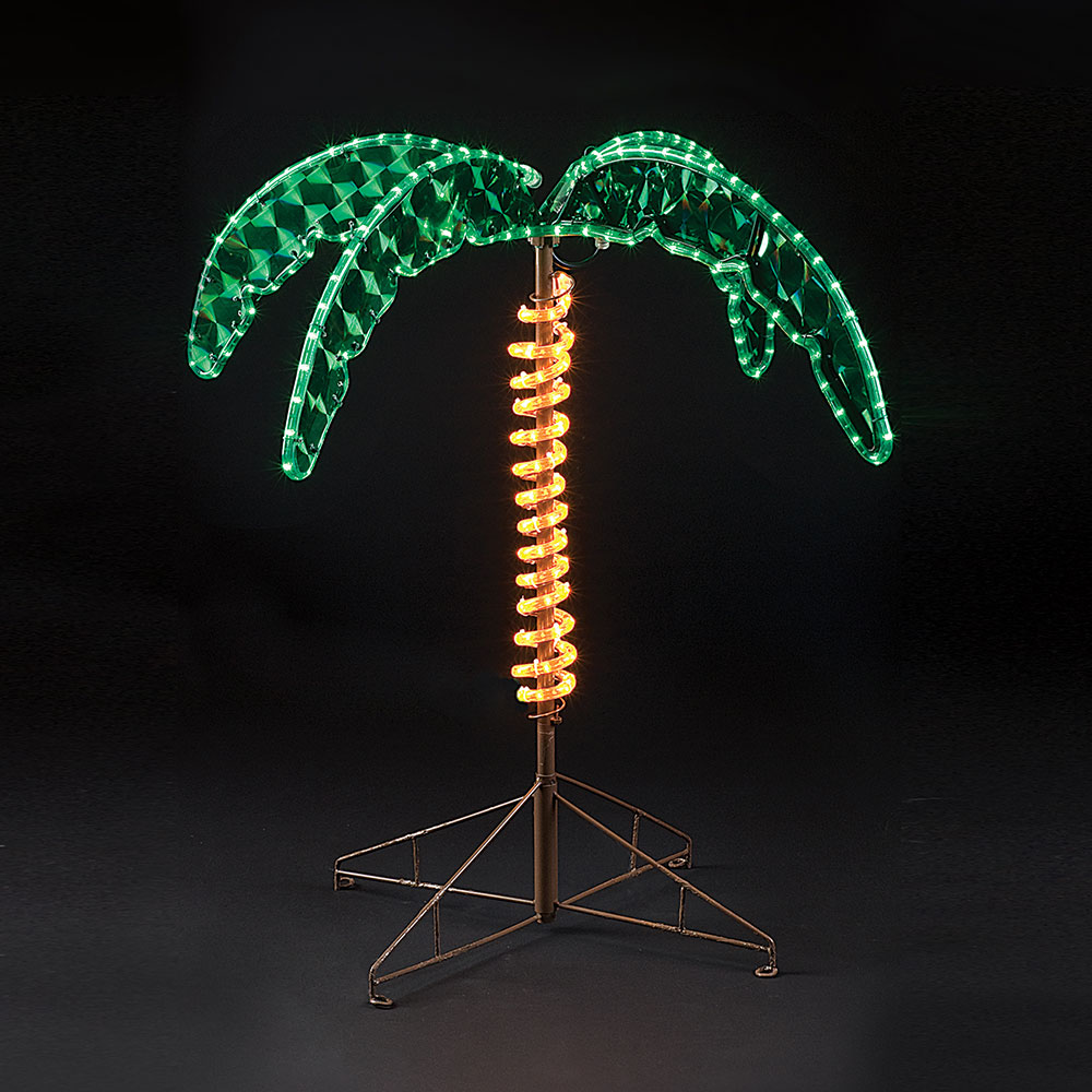 30 inch lighted palm tree made w rope lights oogalights lighted palm tree 30 aloadofball Image collections