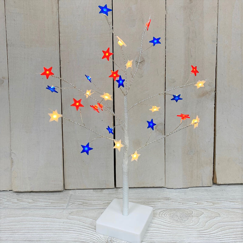 3' Electric RWB Star Tree w/ 85 WW lights GC2526070