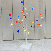 "17.5"" B/O Red White Blue Star Tree GC2526050"