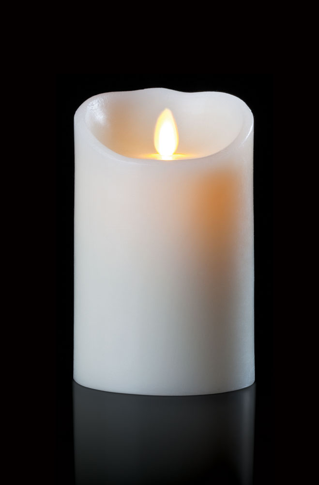 Battery Operated Flameless Candle - White