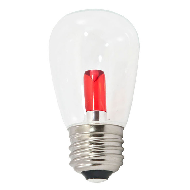 Red LED Professional S14 Light Bulbs