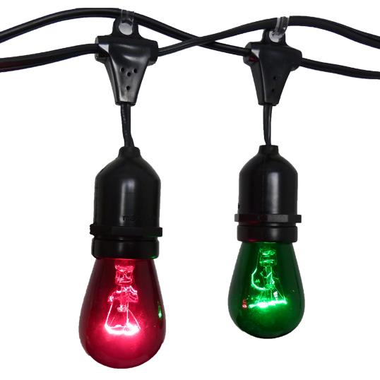 hollyberry festive string light kit 100 suspended red green light string