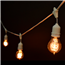 21' Antique Suspended String LIghts - White