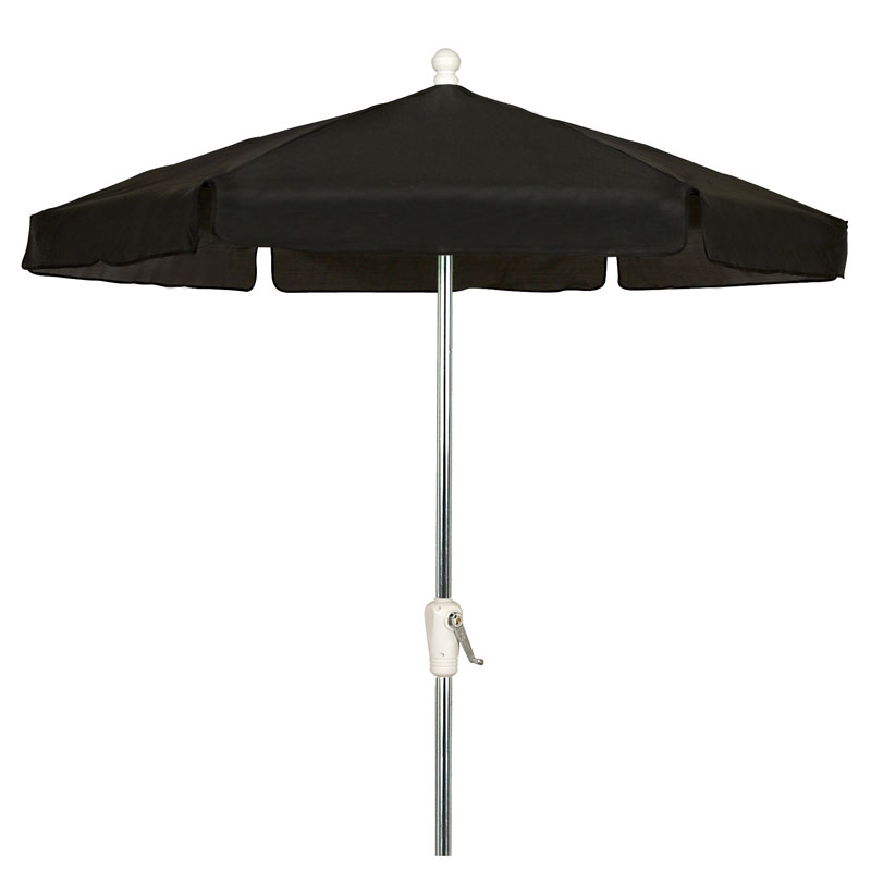 Black Canopy Garden Umbrella - Bright Aluminum