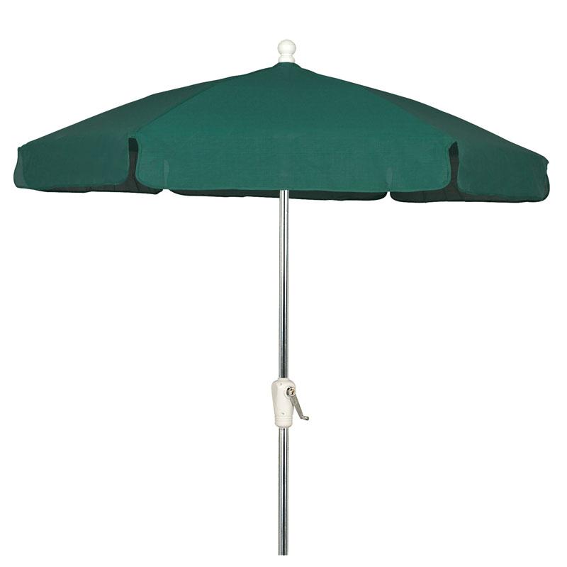 Forest Green Outdoor Garden Umbrella   Bright Aluminum