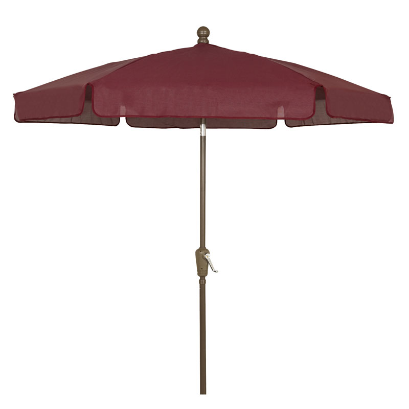 Burgundy Outdoor Garden Umbrella - Bronze Finish