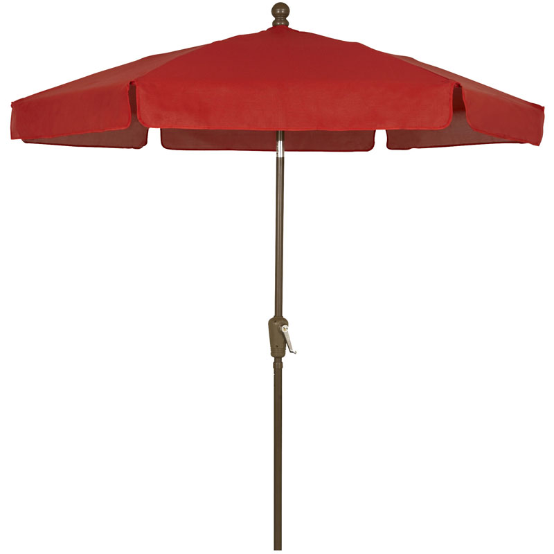 Red Canopy Hexagon Garden Umbrella - Champagne Bronze Finish