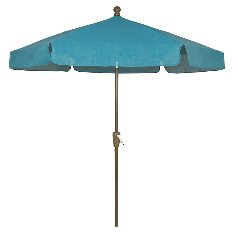 Teal Canopy Outdoor Garden Umbrella