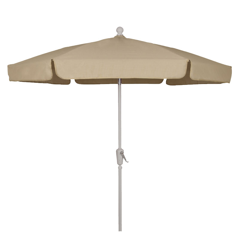 Beige Canopy Garden Umbreall - White Finish