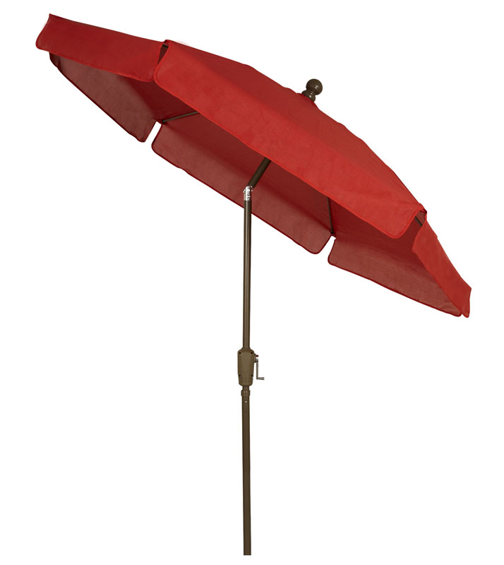 Red Canopy Tilt Garden Umbrella - Champagne Bronze Finish