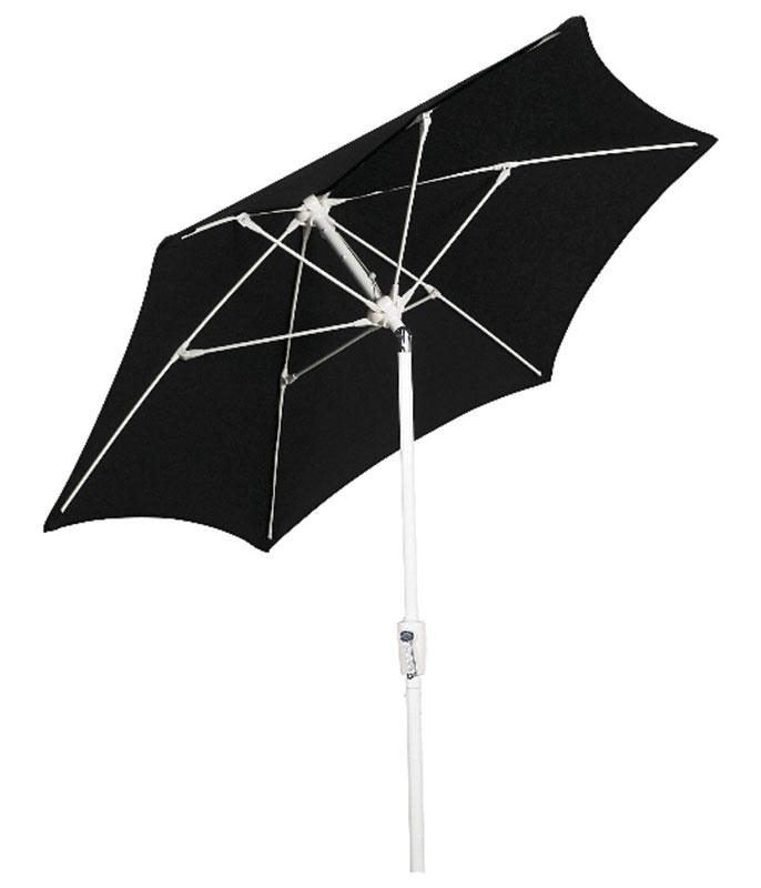 black hexagon patio tilt umbrella - Black Patio Umbrella