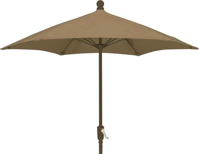 7.5' Beige Terrace Umbrella - Bronze Finish - Crank Lift FB-7TCRCB-BEIGE