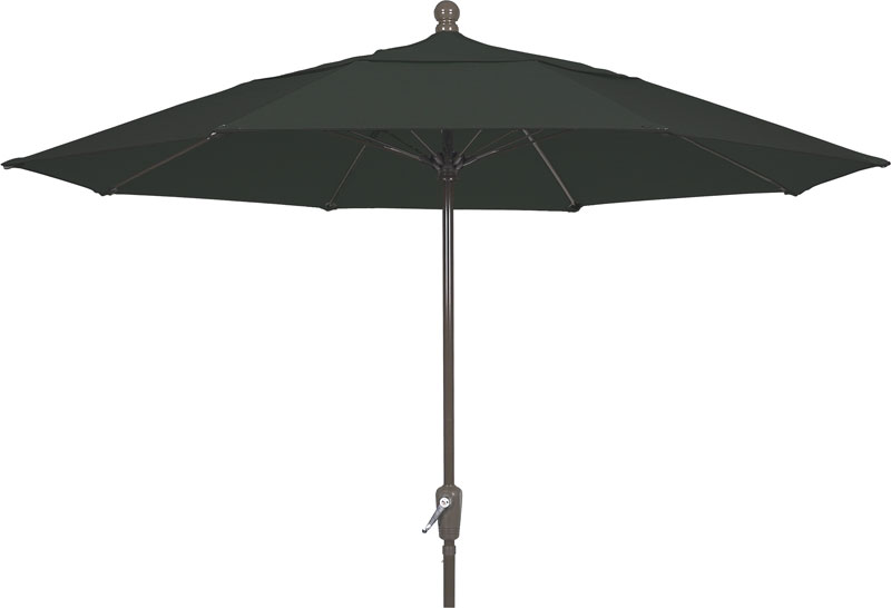 7.5' Black Terrace Umbrella - Bronze Finish - Crank Lift FB-7TCRCB-BLACK