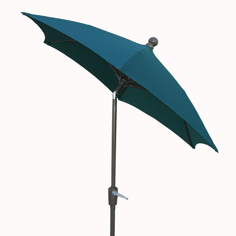 7.5' Forest Green Tilt Terrace Umbrella - Bronze Finish - Crank Lift FB-7TCRCB-T-FGREEN