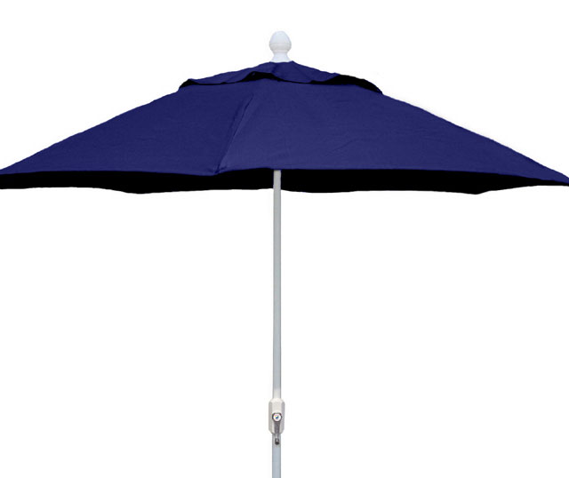 9' Navy Blue Terrace Umbrella - White Finish - Crank Lift FB-9TCRW-NAVY