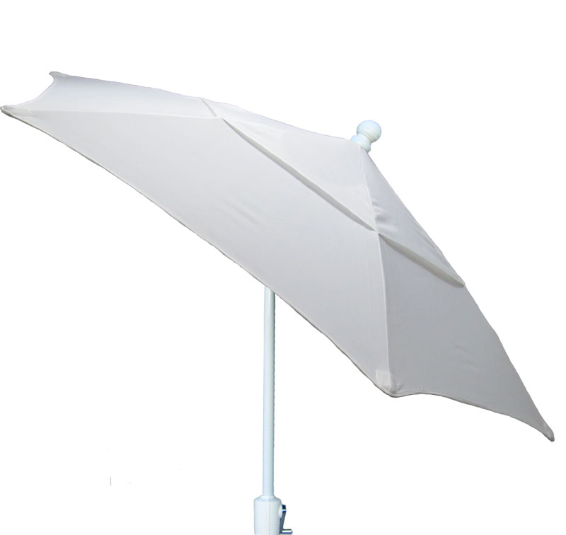9' Natural Tilt Terrace Umbrella - White Finish - Crank Lift FB-9TCRW-T-NATURAL