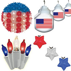 Patriotic Holiday Lights