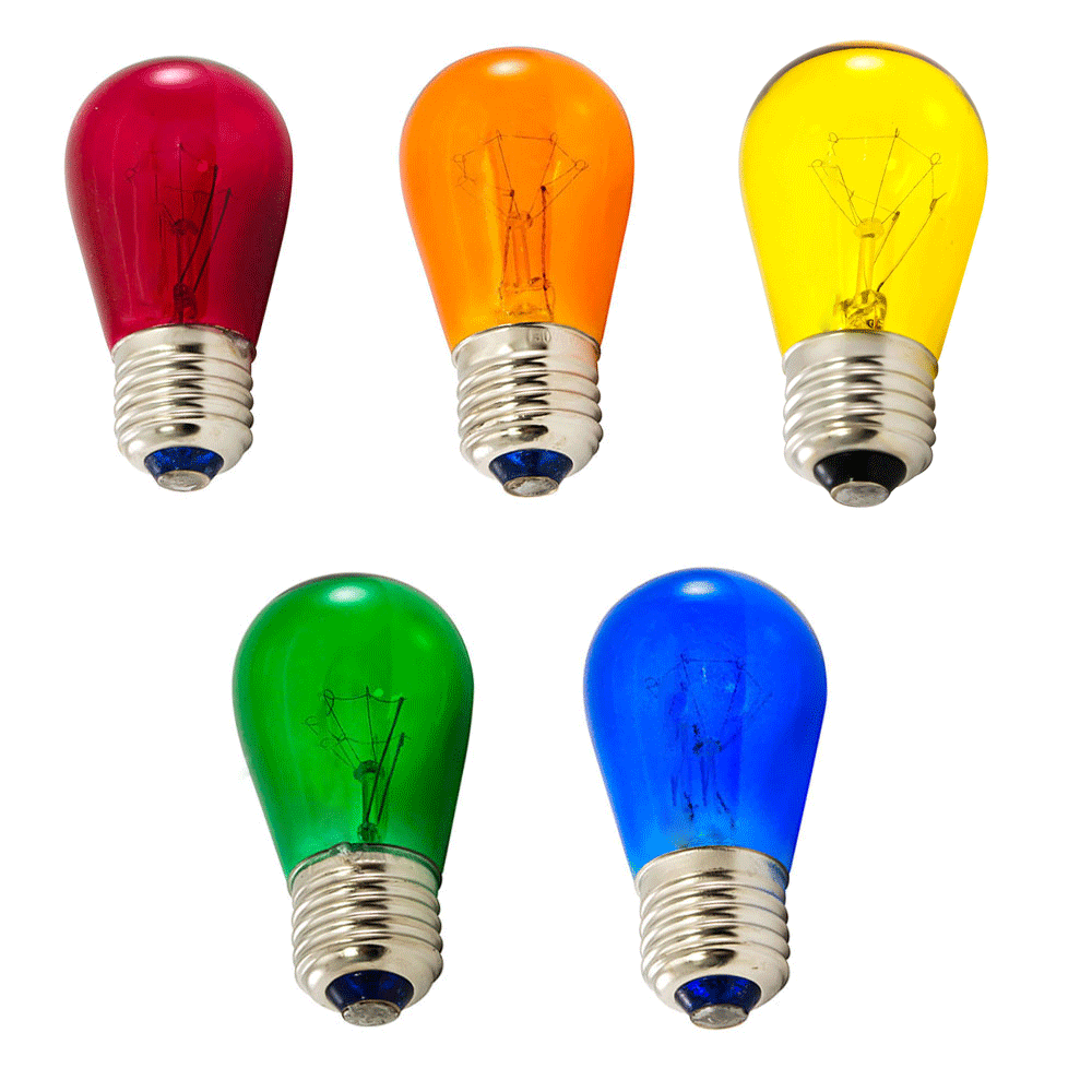 multi color assorted S14 light bulb kit