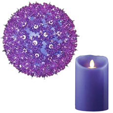 Purple Decorative Lights