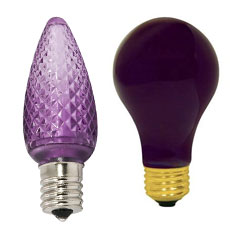 Purple Light Bulbs